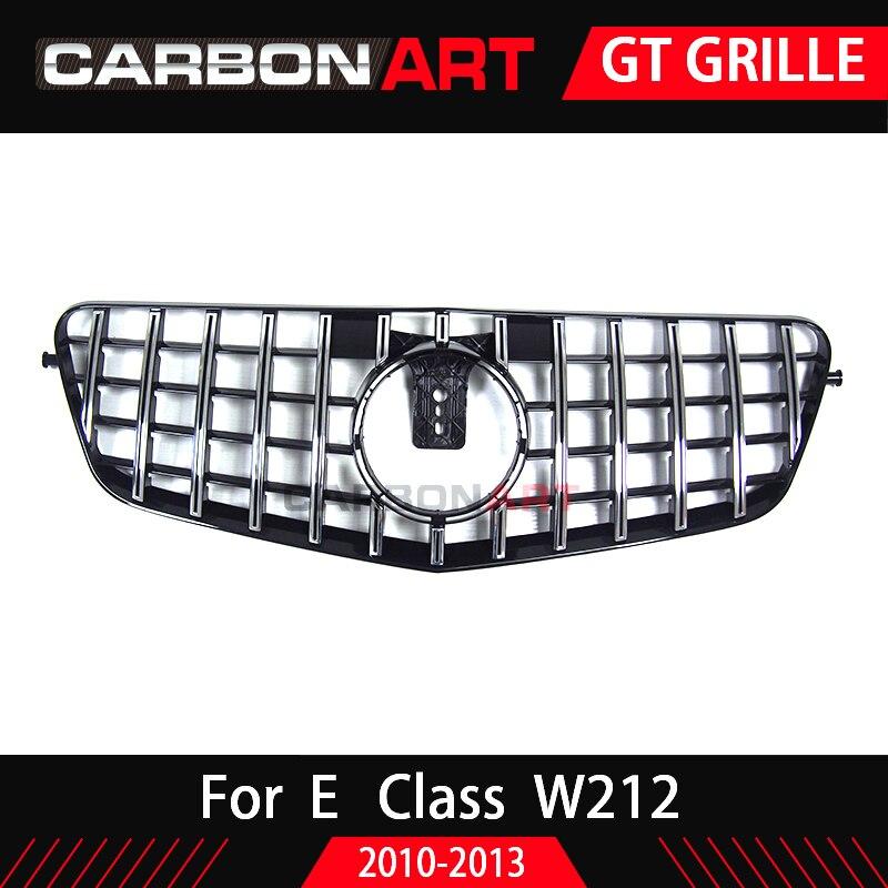 W212 GT グリル垂直グリル Prefacelift メルセデスベンツ E クーペフロントレースグリッドスポーツ 2010 2013 E320 E350 e400 グリル  グループ上の 自動車 &バイク からの レーシンググリル の中 3