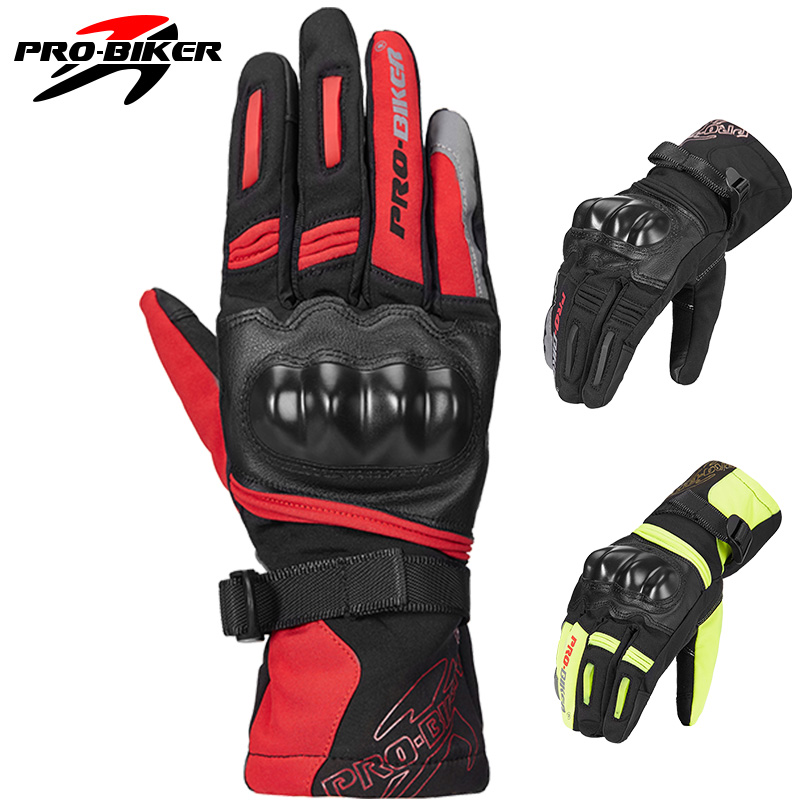 PRO motorcycle gloves Real Leather Touch Screen For Men