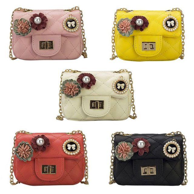 New Children Kids Girls Shoulder Bag Fashion Leather Handbags Chain  Crossbody Messenger Bags for Women 2018 Luxury Handbags