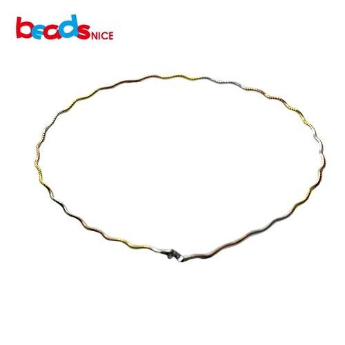 Beadsnice gros bijoux en argent Sterling collier en or Multi collier en argent colliers de manchette italiens pour les femmes ID31858