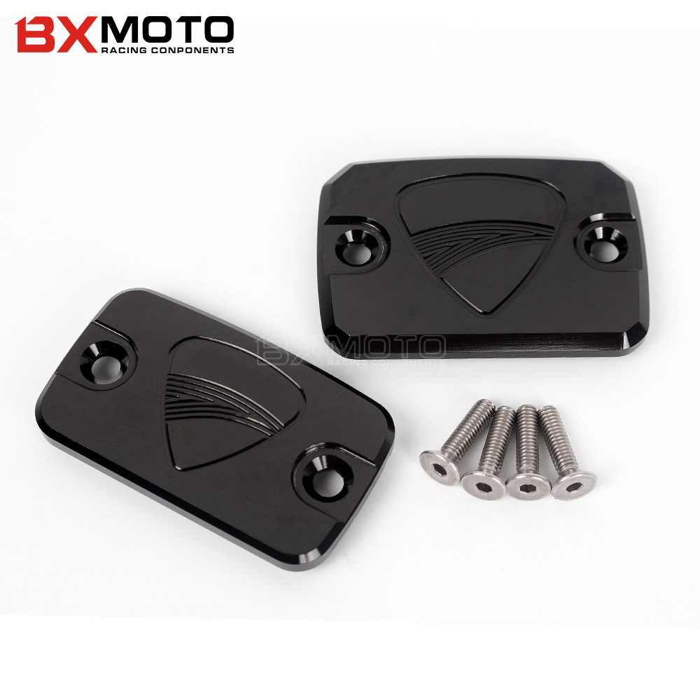 Motorcycle Brake lever Cover CNC Front Brake Fluid Reservoir Cover Cap For DUCATI Monster 695 696 796 MonsterHypermotard 796 motorcycle rear side view mirrors a pair brand new high quality for ducati monster 695 696 796 black