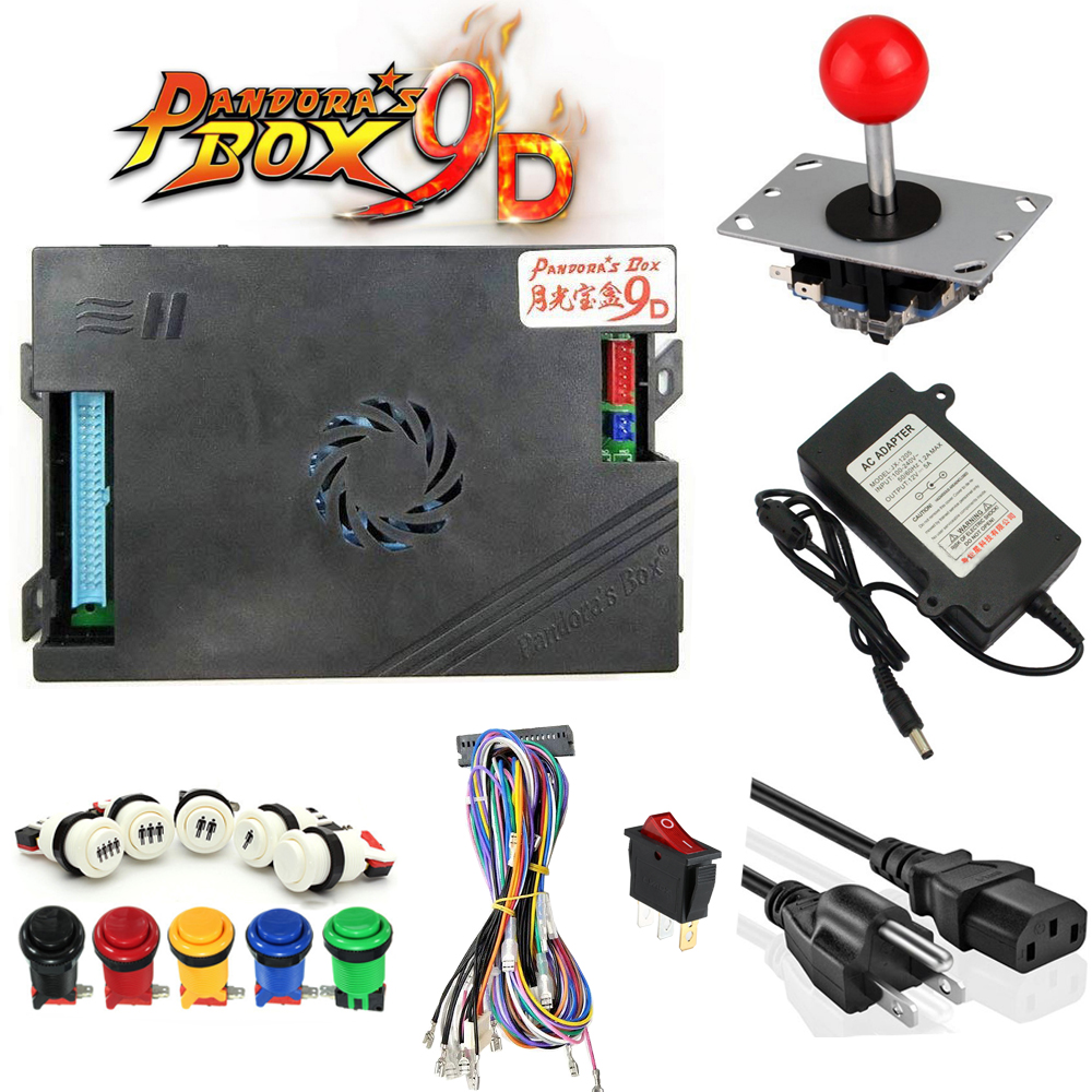 Купить с кэшбэком DIY Pandora box 9D 2222 in 1 arcade game cabinet machine with jamma board kit
