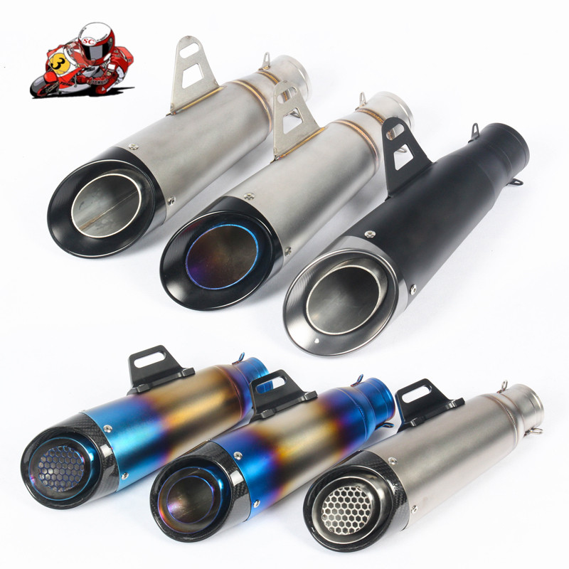 Universal Motorcycle Exhaust 51mm 61mm Pipe Escape Modified Moto Carbon Fiber Muffler For benelli trk 502