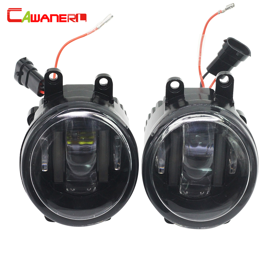 Cawanerl 2 Pieces Car LED Light Right + Left Fog Lamp Daytime Running Light DRL White 12V For Scion XA 1.5L L4 2006 cawanerl for toyota highlander 2008 2012 car styling left right fog light led drl daytime running lamp white 12v 2 pieces