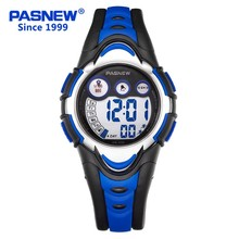 High Quality PASNEW Top Brand Kids Electronic Digital Alarm LED Multifunctional Waterproof Sport Wristwatch PSE-276G