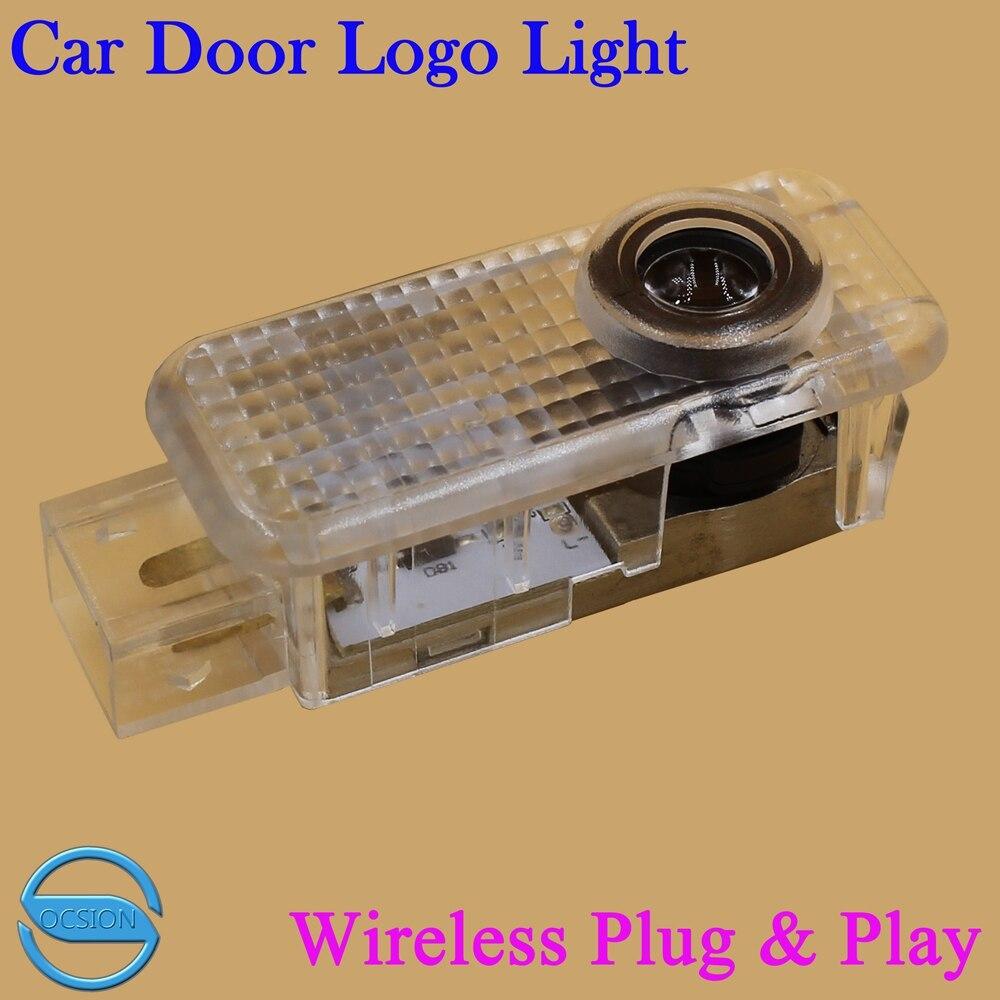 3D Autotür Logo Laserprojektor Licht Für Audi A1 A3 A4 A4L A5 A6 A6L A8 Q5 Q7 R8 TT LED Geisterschatten Höflichkeit Willkommen lichter