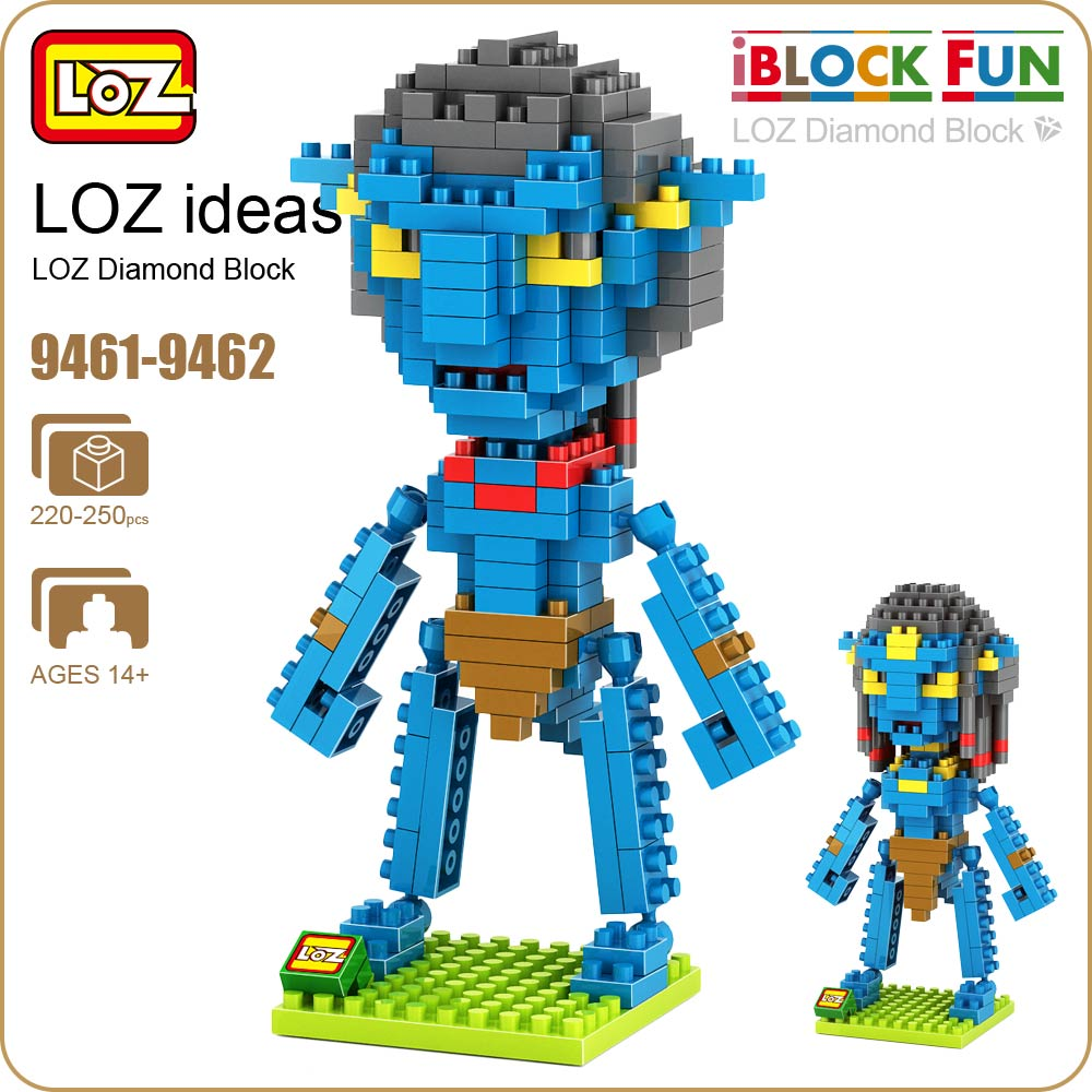 LOZ Diamond Blocks Dans Blocks IBlock Fun Building Bricks Movie Alien Figure Action Toys for Children Assembly Model 9461-9462 hc9009 1650pcs pikachu cartoon movie series without original box building blocks diamond bricks toys compatible with loz