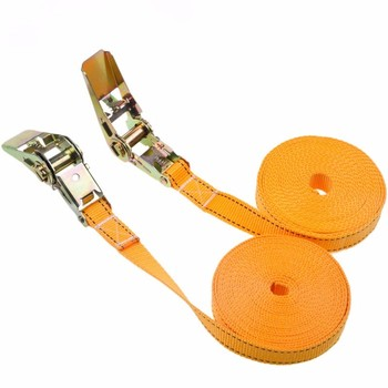 1pcs 2.5cm * 2 Meters 900KG Metal Cargo Lashing Polyester Webbing Straps, Hold Secure Ratchet Tie Down Cam Buckle Winch Strap