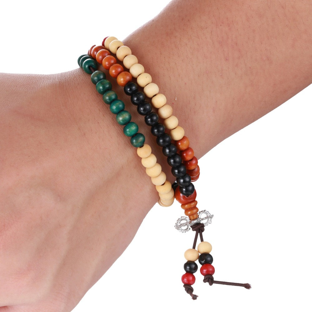 (5 colors) Natural 6mm Sandalwood Buddhist Buddha Meditation 108 beads Wood Prayer Bead Mala Bracelet Women/Men/unisex jewelry