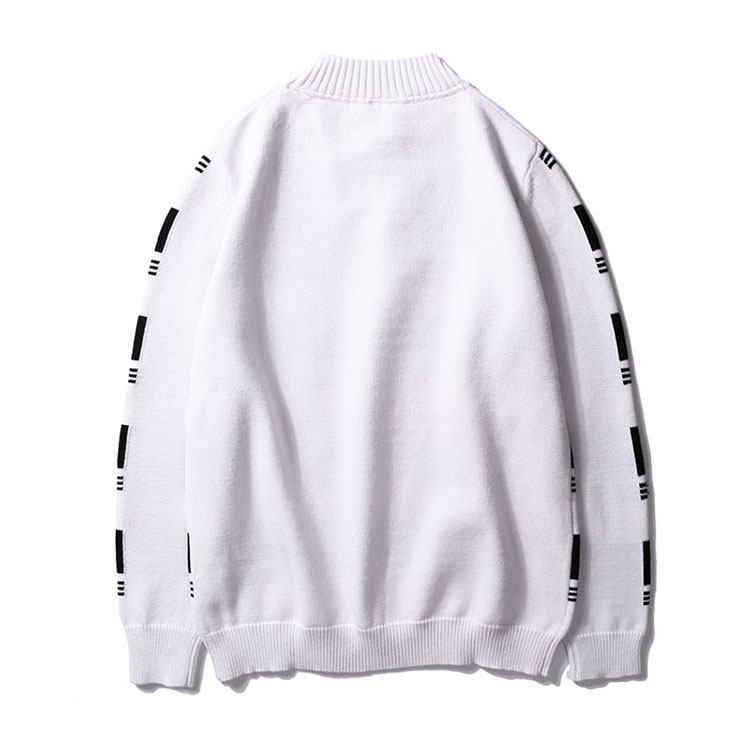 Aolamegs Striped Sweater Men Autumn Winter Fashion Casual Sweater Pullovers Harajuku Youth Couples Stripe Knitting Tops Clothing (5)