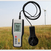 High Sensitive Anemometer LCD CFM/CMM Display Wind Meter Speed Meter Anemograph Thermal Thermo Anemometer Infrared Thermometer