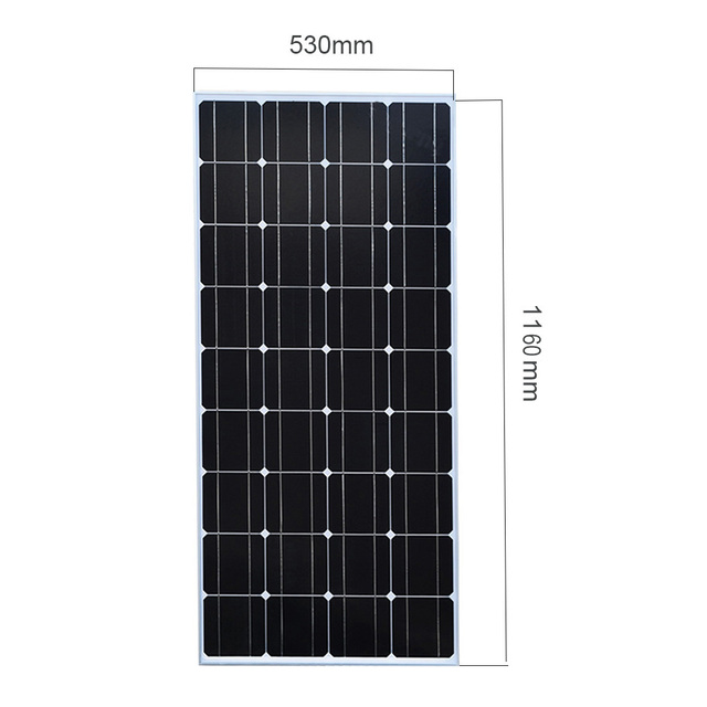 XINPUGUANG 2PCS 3PCS 4PCS Solar panel 100W 18V Glass solar Panels 200W 300W 400W panneau flexible bsolaire Monocrystalline board 4