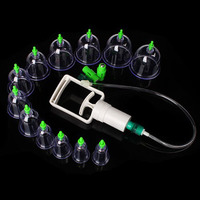 12 Cups Chinese Medical Generic Suction Cups Vacuum Cups Healthy Body Kit Portable Massage Therapy Body