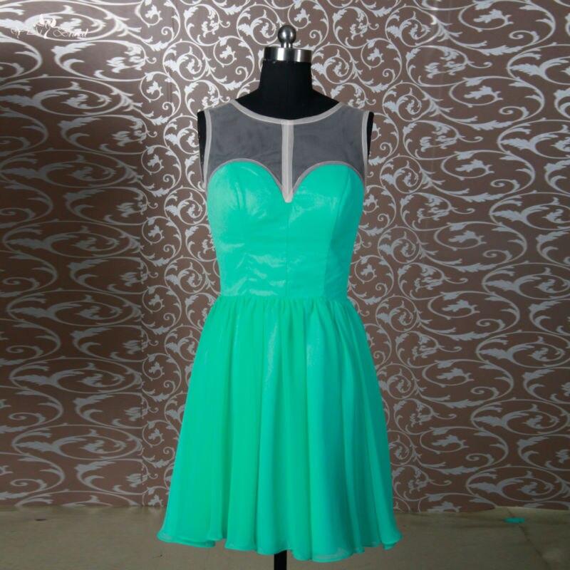 Rse687 изумрудно зеленый Короткие платье подружки невесты
