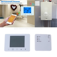WiFi & RF Wireless Room Thermostat Wall hung Gas Boiler Heating Remote Control Temperature Controller for Alexa & Google home