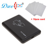DWE CC RF control card readers 125khz USB RFID EM4305 T5577 reader and writer with 10pcs writable card