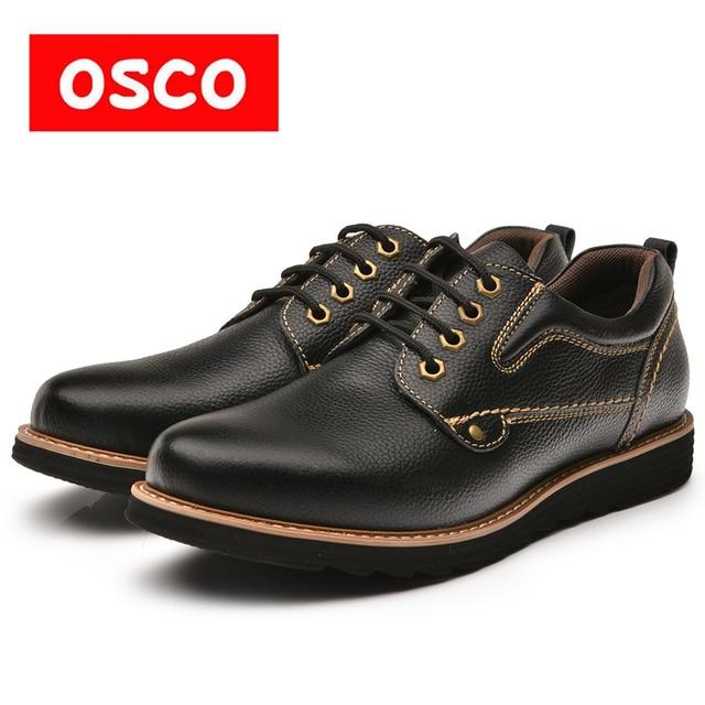 Оско фабрики всесезонные Новая мужская обувь модные Для мужчин корова LEAHTER Повседневное ботильоны # rus3635