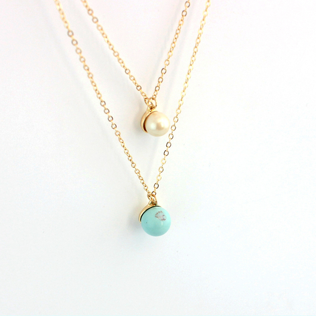 Gold chain green necklace women choker multilayer necklaces pendants gold chain green necklace women choker multilayer necklaces pendants bohemian jewellery collier sne160088 aloadofball Choice Image