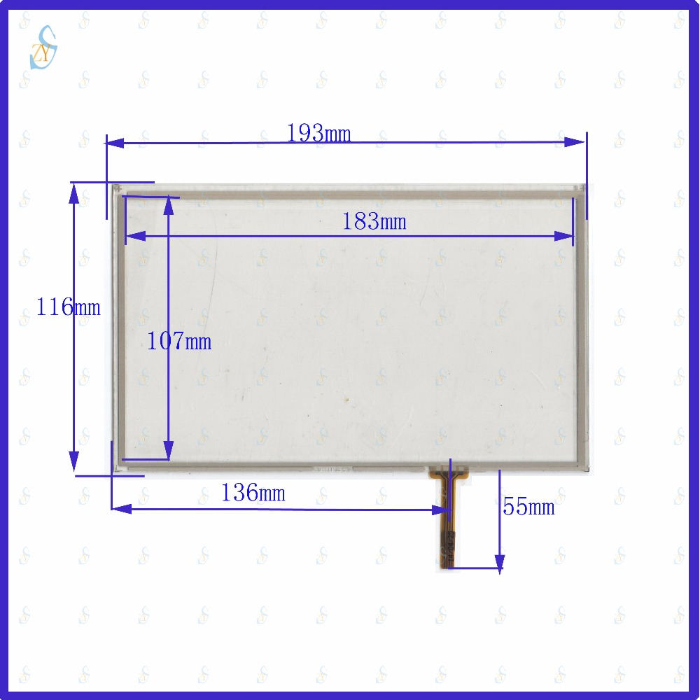 ZhiYuSun 193mm*116mm HLD-TP-1111 8inch 4-wire resistive touch panel for Car DVD, 193*116 GPS Navigator screen glass zhiyusun 192mm 116mm kdt 6259 8inch 4 wire resistive touch panel for car dvd 192 116 gps navigator screen glass