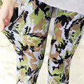 2016 New Fashion Women Sexy Floral Printing Leggings High Quality Women Ankle-Length pants Hot Selling
