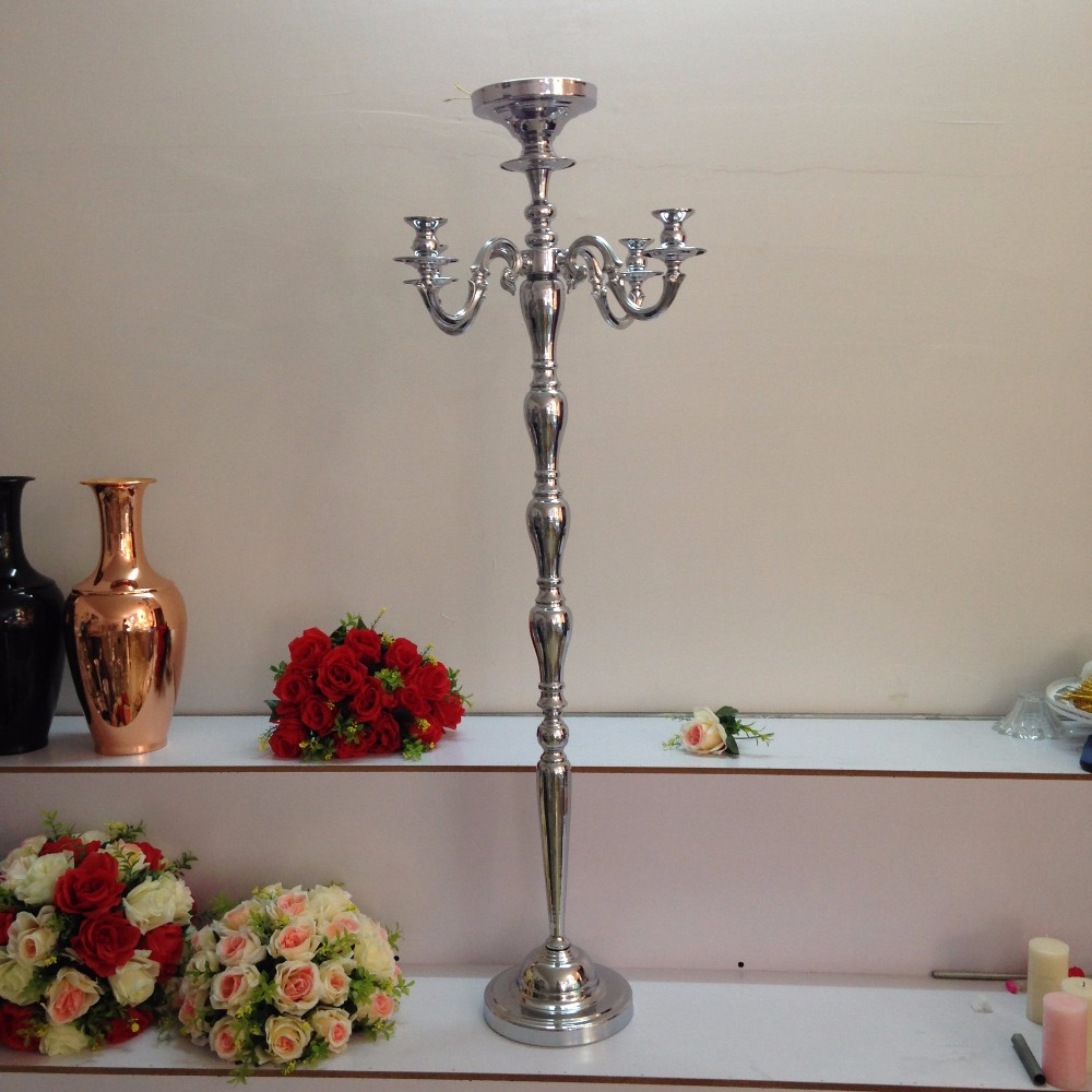 125cm 49 silver wedding party road lead decoration table chandelier img8762 arubaitofo Image collections