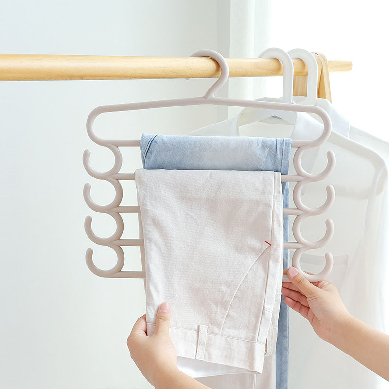 Beautiful Pants Towel Tie Scarf Storage Rack Multi Layer Clothes Hanger Holder Space Saving Wardrobe Organizer Hogard MY1218
