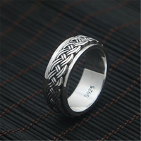 2018 Thailand Vintage Wedding Ring 100% Real 925 sterling silver Creative Simple Rotatable Ring for Women Men Lovers Gifts