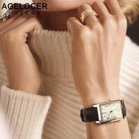Agelocer кварцевые наручные женские часы Для женщин Роскошные розового золота античный Повседневное Кожаные модельные туфли наручные часы