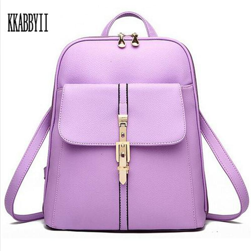 New 2017 High Quality Women Backpacks Famous Brands Fashion Lady Leather Backpack School Backpacks For Teenage Girls