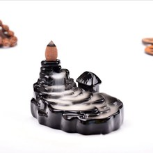 Multi-layer Censer Ceramic Waterfall Backflow Incense Burner Holder Home Decor Teahouse Use Decoration Accessories