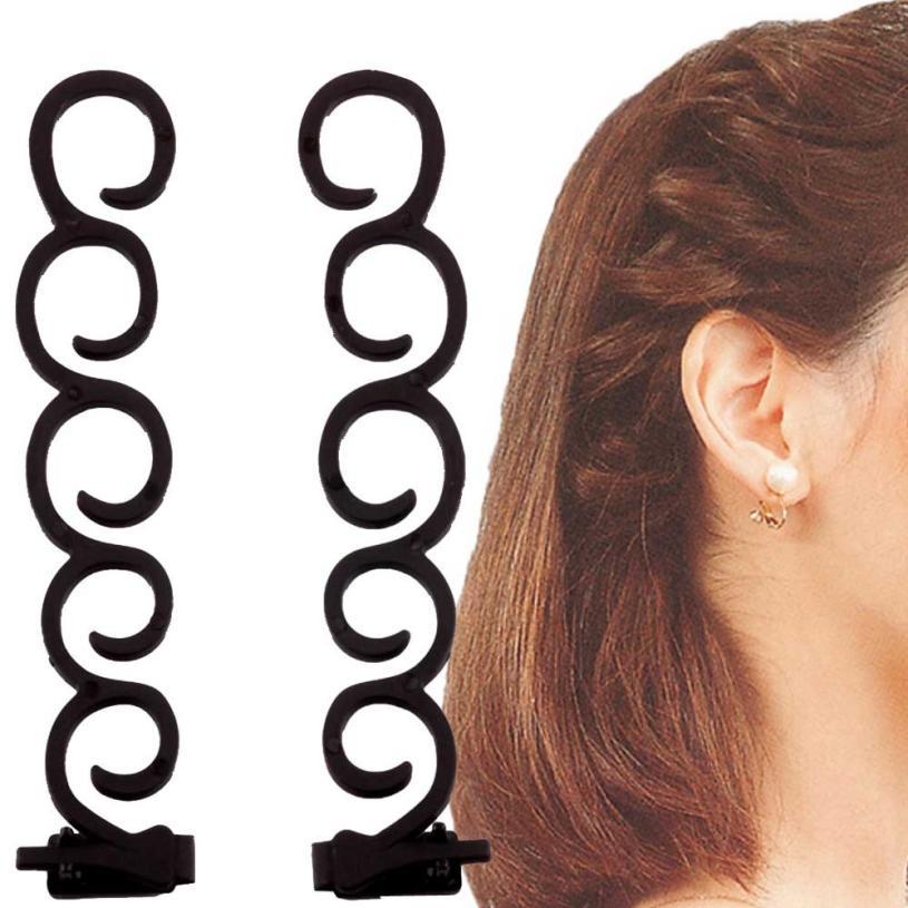 2pcs Hair Styling Tools Weave Braid Hair Braider Tool Hair Styling Maker Hair Roller Accessories Beauty Tools 2U96