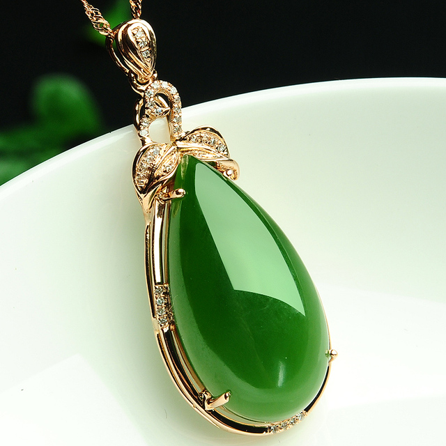 Upscale and nephrite jade jewelry genuine 18k rose gold pendant upscale and nephrite jade jewelry genuine 18k rose gold pendant natural jade pendant drop variety aloadofball Image collections