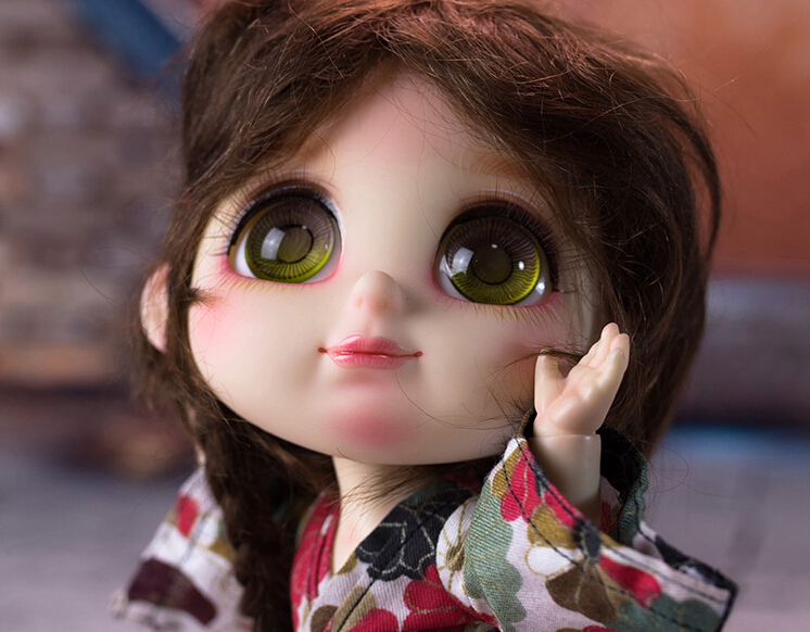 Free shipping 1 8 BJD Doll Foodie xiaohebao sock Bru