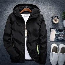 Plus Size 6XL 7XL New Spring Autumn Bomber Jacket Men Women Casual Solid Windbreaker Zipper Thin Hooded Coat Outwear Male Jacket