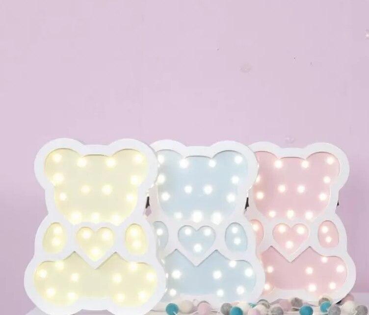 Ours Led Nuit Lumière Blanc Chaud Émettant Lampes de Table Pour Enfants Enfants Cadeau Salle de Fête Décoration