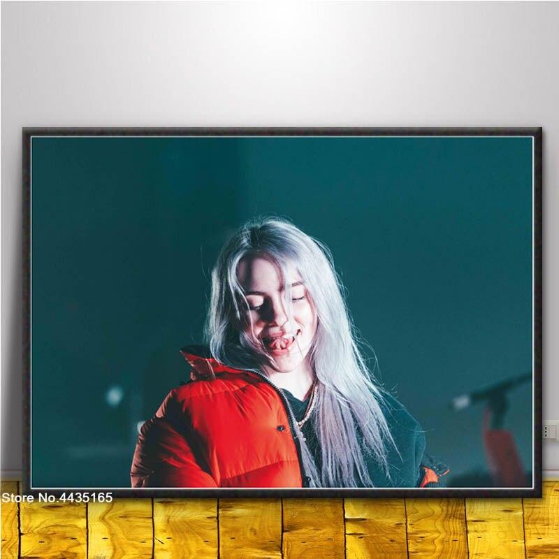 Us 198 27 Offbillie Eilish Plakat Singer Gwiazda Plakaty I Reprodukcje Wall Art Obraz Na Płótnie Malowanie Dekoracji Do Salonu Wystrój Domu W