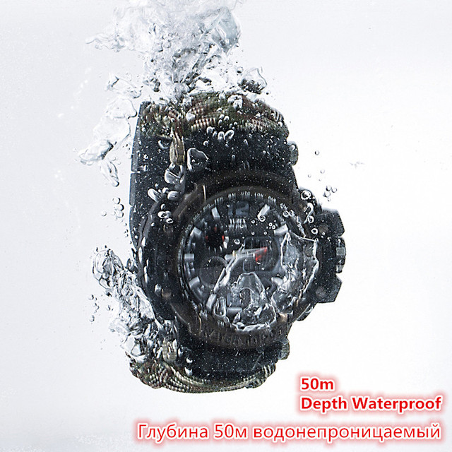 EDC Outdoor Survival Watch Multi-functional Waterproof 50M