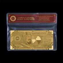 Nadir suudi arabistan 200 Riyal altın banknot kazınmış 999.9% Metal altın yaprak güzellik ev ve noel günü dekorasyon
