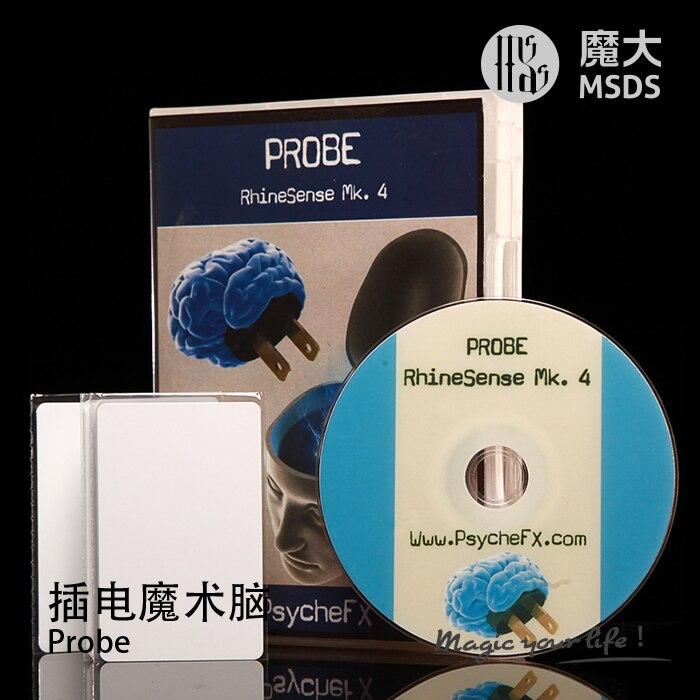 Free Shipping Probe RhineSense Mk 4 ESP card version card magic gimmick accessories mentalism Magic trick