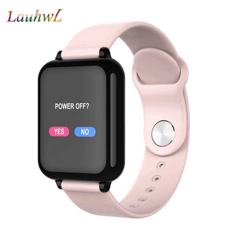 B57 akıllı saat su geçirmez nabız monitörü kan basıncı çoklu spor modu smartwatch kadınlar giyilebilir izle erkekler akıllı saat