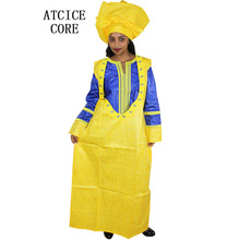 African  bazin riche embroidery design dress