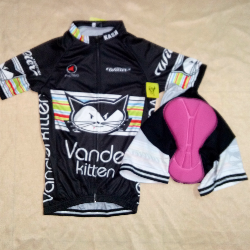vanderkitten cycling jersey women clothes 2015 feminina bike cycling  clothing maillot ciclismo mujer mtb black cute cat sport-in Cycling Jerseys  from Sports ... 7fe2bb23a