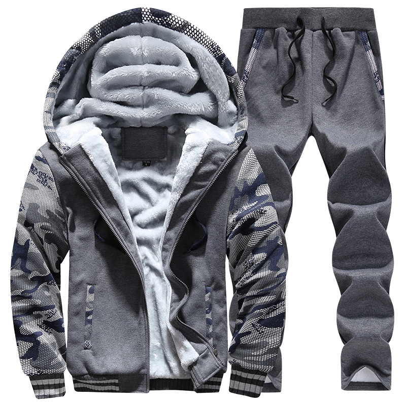 Camouflage Suits Men's Fleece Sportwear 47Off Sweatshirts Hoodies Men Coats Warm In Pants Casual Sets Sleeve 25 lisibooo Winter Us25 Tracksuit oExQedCBrW
