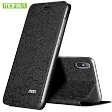 Mofi for xiaomi mi 8 pro case mi8 cover silicone flip leather 6.21 luxury
