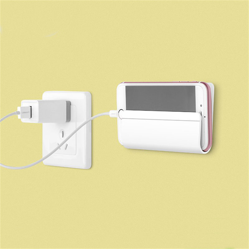 Wall charger phone holder mount stand for iphone 6 6s samsung s6 s7 edge huaiwei xiaomi - Wall mount headphone holder ...