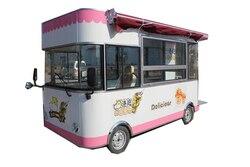 Conveniente elettrico carrello di cibo per snack food rimorchio carrello con ruote