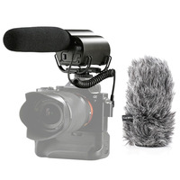 Saramonic VMIC Recorder Super Cardioid Camera Mount Video Microphone with Built in Audio Recorder & Furry Windscreens