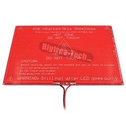 Większy! Nowa płytka PCB Heatbed MK2A z rezystor led  i kabel do 3D drukarki RepRap rampy 1.4 hot łóżko 300*200*2.0 XT0359-3D S101