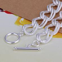 Fina del verano del estilo de plata chapada pulsera 925-sterling-silver joyería bijouterie cadena pulseras para mujeres hombres SB290