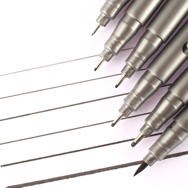 Black Fine Tip Inking Pens For Drawing Archival Ink Pen Fineliner Sketching Pens for Drafting Manga Pens Writing 3